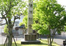 駅前にある石碑