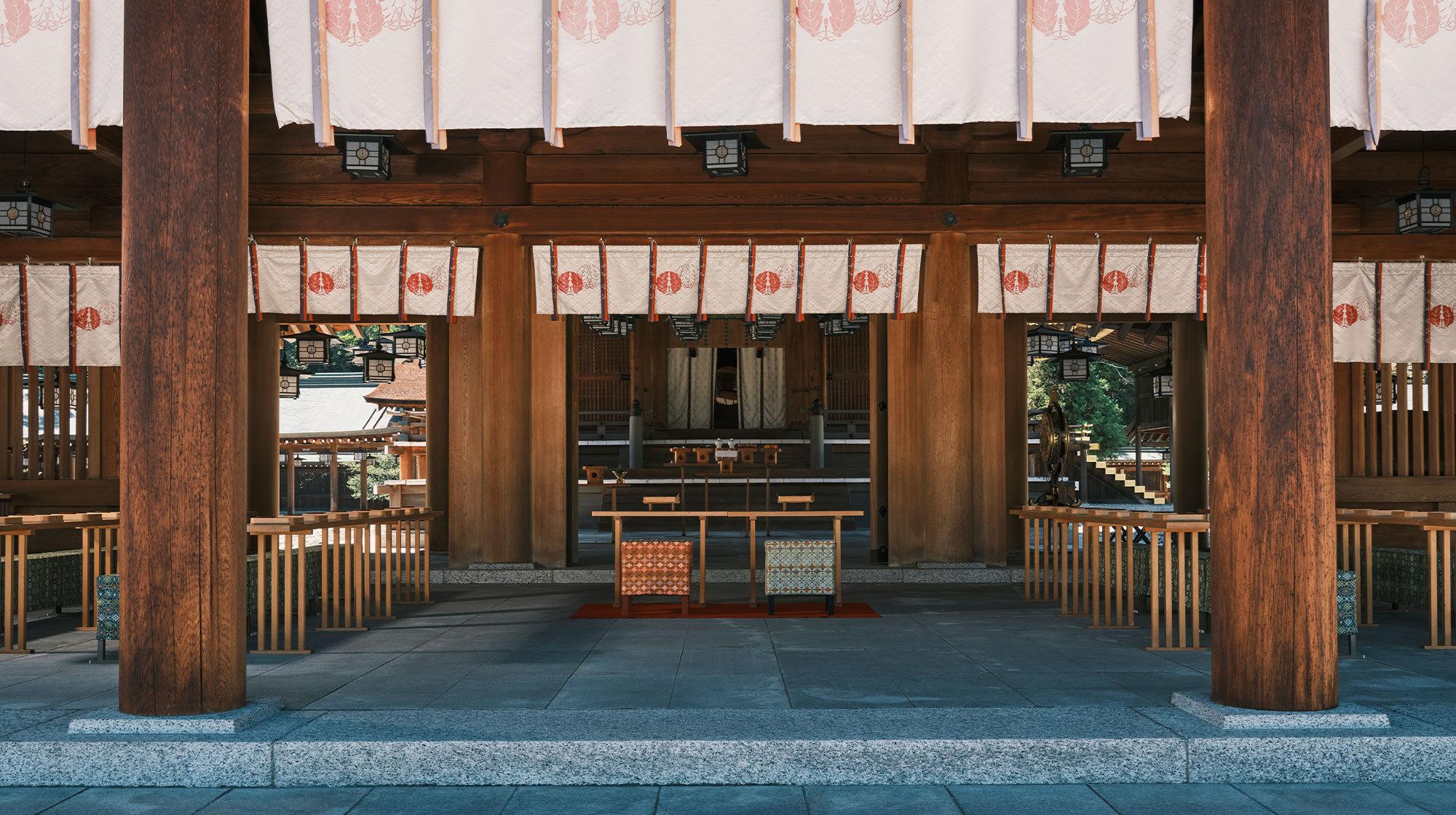 橿原神宮 結婚式 内拝殿
